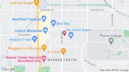 Hilton Woodland Hills / Los Angeles Map
