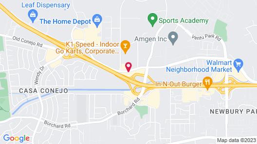 Premier Inns Thousand Oaks Map