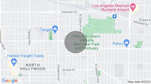Bright, Quiet & Vibrant North Hollywood Apartment Map