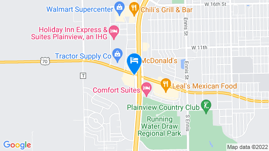 Super 8 by Wyndham Plainview Map