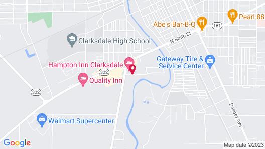 Hampton Inn Clarksdale Map