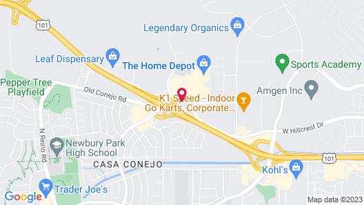 Americas Best Value Inn Thousand Oaks Map