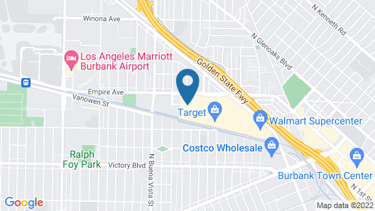 Extended Stay America Suites Los Angeles Burbank Airport Map