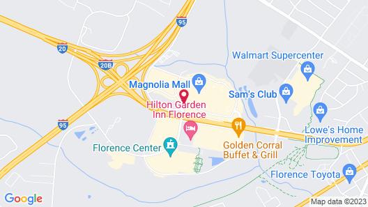 Hampton Inn & Suites Florence Center Map
