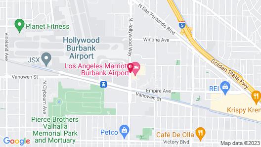Los Angeles Marriott Burbank Airport Map