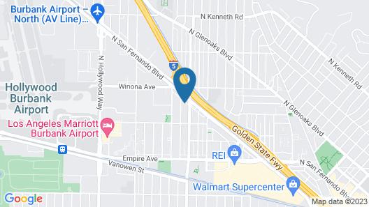 Quality Inn Burbank Airport Map