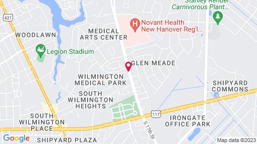 Hampton Inn Wilmington Medical Park Map