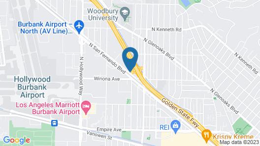 Ramada by Wyndham Burbank Airport Map