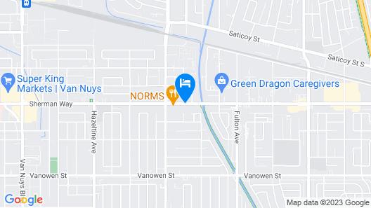 Studio 6 VAN Nuys Map
