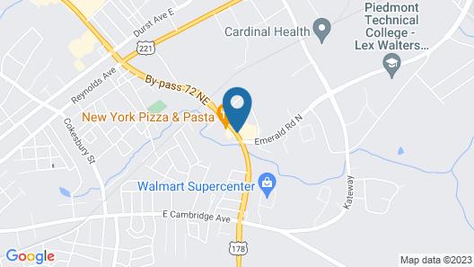 Quality Inn Greenwood Hwy 25 Map