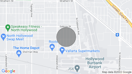 2 Miles Burbank Airport, Amtrak & Marriott Hotel /universal City/hollywood Map