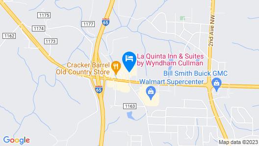 Comfort Suites Cullman I-65 Exit 310 Map