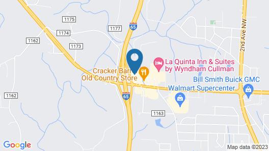 Hampton Inn Cullman Map