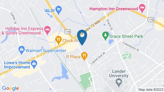 Comfort Inn & Suites Greenwood near University Map
