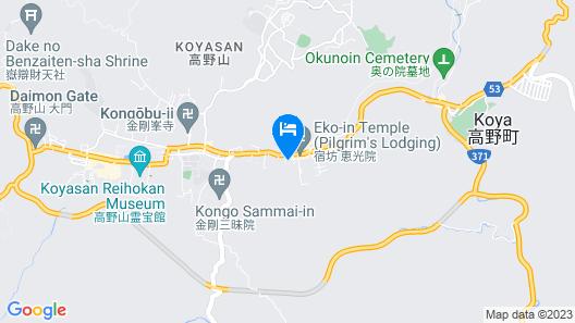 Mitsugonin Temple Map