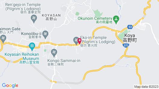 Koyasan Syukubo Kumagaiji Map