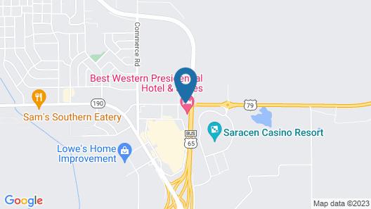 Motel 6 Pine Bluff, AR Map