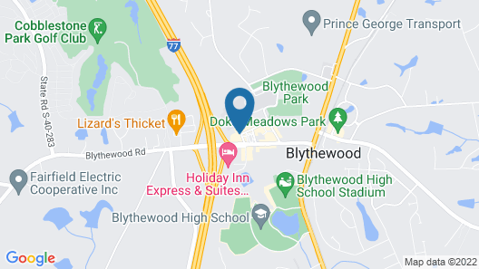 Comfort Inn Blythewood - North Columbia Map