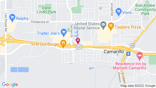 Motel 6 Camarillo, CA Map