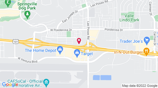 Hampton Inn And Suites Camarillo Map