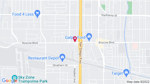 Motel 6 Sepulveda, CA - Los Angeles - Van Nuys - North Hills Map