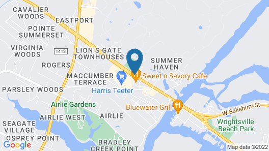 Hampton Inn & Suites Wilmington/Wrightsville Beach Map