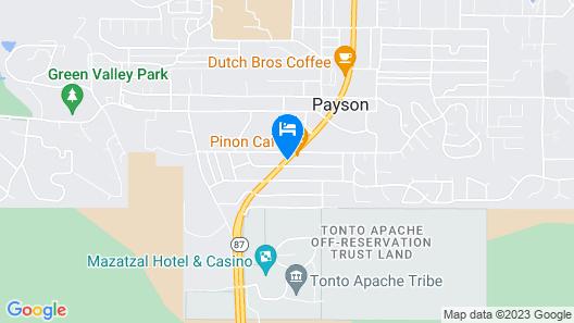 Motel 6 Payson, AZ Map