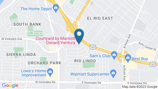 Courtyard by Marriott Oxnard Ventura Map