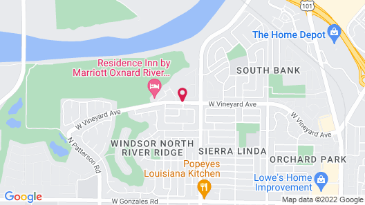 Residence Inn By Marriott Oxnard At River Ridge Map