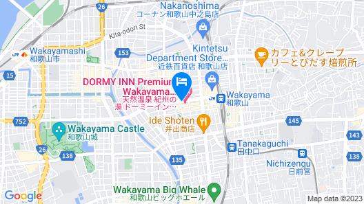 Dormy Inn Premium Wakayama Natural Hot Spring Map