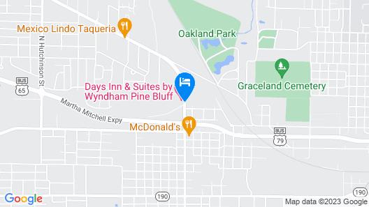 Days Inn & Suites by Wyndham Pine Bluff Map