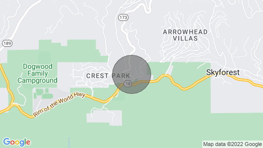 Cozy Cabin Retreat and Dogs Welcome Map