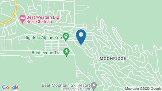 Family Friendly Home in Moonridge. Ski Slope Views of Bear Mtn. Near zoo & Golf Map