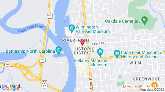Courtyard by Marriott Wilmington Downtown/Historic District Map