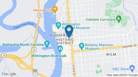 Hampton Inn by Hilton Wilmington Downtown Map