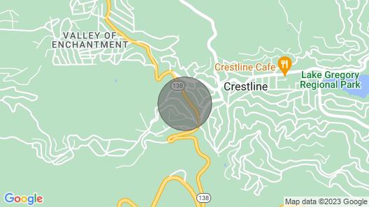 Cozy, Pet-Friendly Mtn Cabin ~1 Mi to Lake Gregory Map