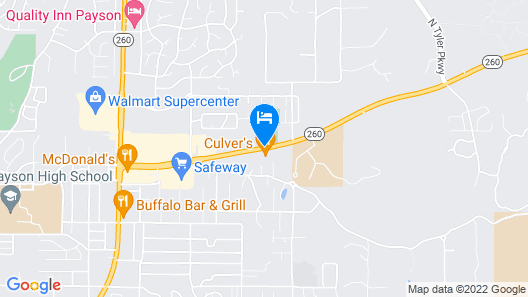 Super 8 by Wyndham Payson Map