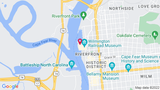 Embassy Suites by Hilton Wilmington Riverfront Map