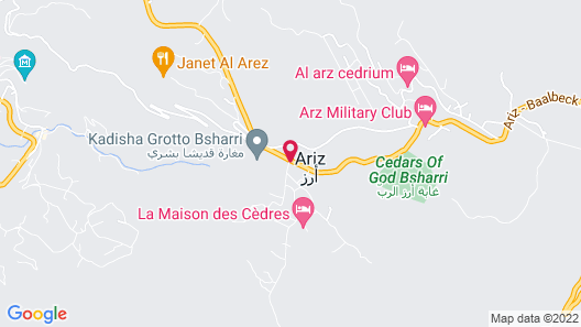 Alpine hotel cedars Map