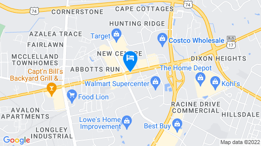 Wingate by Wyndham - Wilmington Map