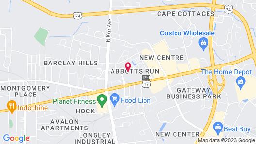 Motel 6 Wilmington, NC - Market Street Map