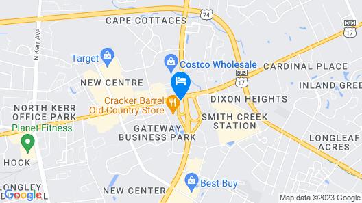 Best Western Plus Wilmington/Wrightsville Beach Map