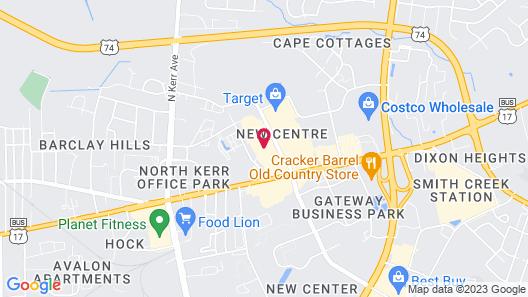Quality Inn Wilmington Map