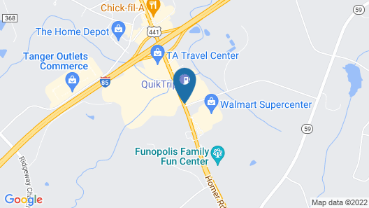Days Inn & Suites by Wyndham Commerce Map