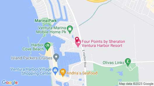 Four Points by Sheraton Ventura Harbor Resort Map