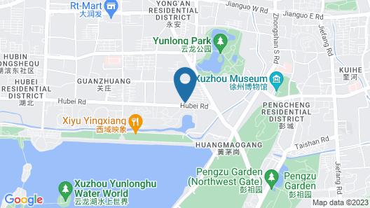 Xuzhou Marriott Hotel Lakeview Map