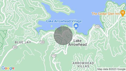 Tiny House - Lake Arrowhead Walk to Village Map