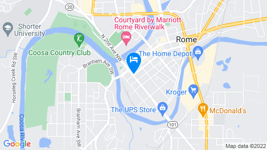 Hawthorn Suites by Wyndham Rome Map