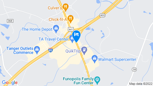 Red Roof Inn & Suites Commerce - Athens Map