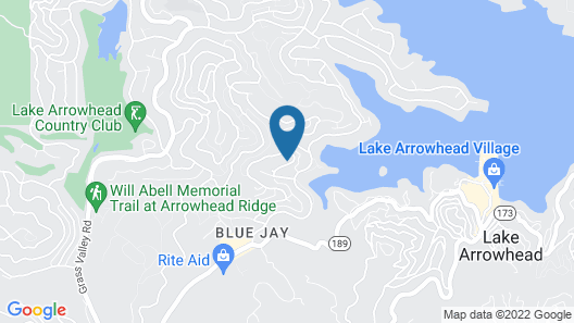 Lake Arrowhead Mountain Chalet in the Treetops With Lake View Map